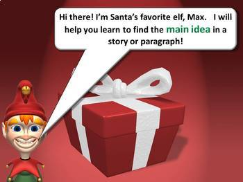 Main Idea PowerPoint Lesson Christmas Edition