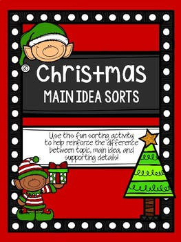 Christmas Main Idea Sorts (Topic, Main Idea, and Supporting Details)