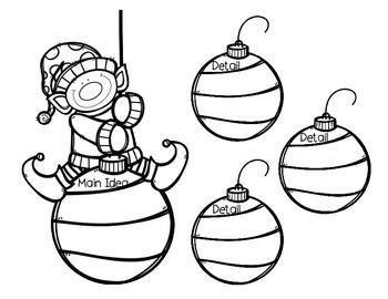 Christmas Main Idea and Detail Organizers