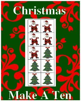 Christmas Make A Ten Math Center