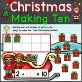 Christmas Making 10 Digital Boom Cards Kindergarten Core S