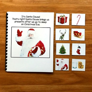"""Christmas Making Inferences Adapted Book:  """"I See On Christmas"""""""