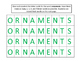 Christmas Making Words Activity: Ornaments