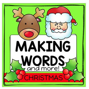 Christmas Making Words Word Work