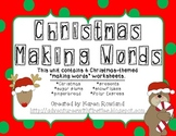 "Christmas ""Making Words"" Worksheets"
