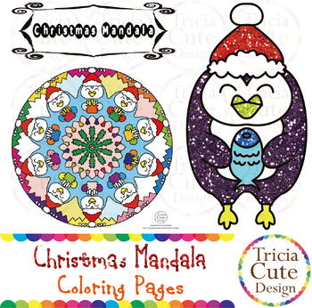 christmas coloring pages mandala