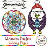 Christmas Coloring Pages Mandala