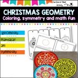 Symmetry and Concentric circles. Geometry- Mandalas (christmas)