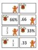Christmas Match Game - Fractions / Percents / Decimals