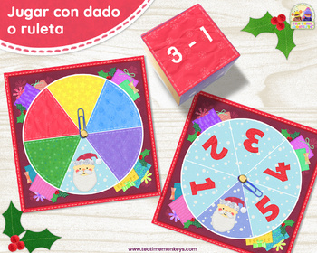 Christmas Match Game in Spanish: 3 in 1! Colores, Números, Sumas/Restas