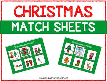 Christmas Match Sheets