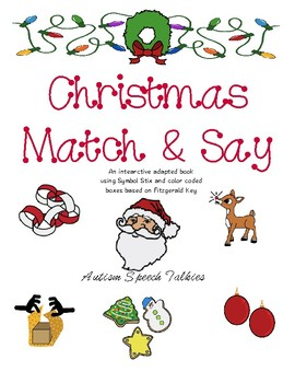 Christmas Match and Say: Interactive Vocabulary Book