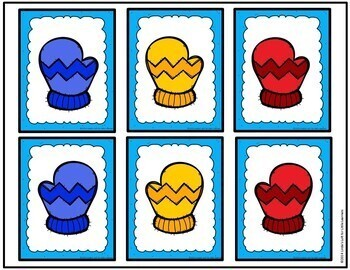 Winter Mitten Match and Sorting Activity for Preschool