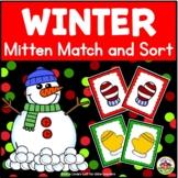 Winter Mitten Match and Sort Activity for Preschool