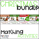 Christmas Matching Activities Bundle: Letters, Numbers, Colors, Shapes, and More
