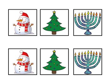 Christmas Matching Cards, 21 items, WebAblls B5, WebAblls B7, Memory Game