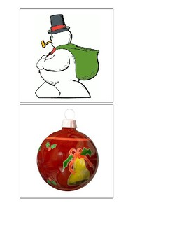 Montessori Christmas Matching Cards