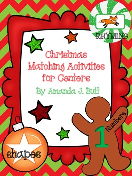 Christmas Matching (Shapes; Numbers; Rhyming Pictures) KDG; Autism; Special Ed.