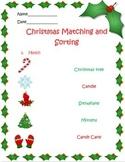Christmas Matching and Sorting