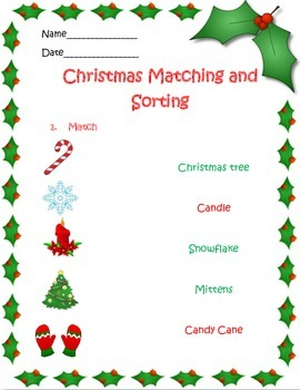 Christmas Matching and Sorting