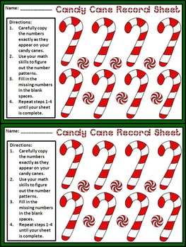 Christmas Activities: Candy Cane Number Pattern Christmas Math Center