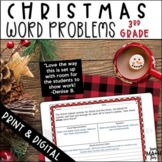 Christmas Math Word Problems Third Grade Multiple Operations