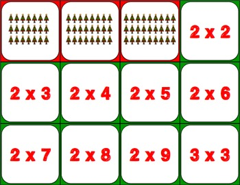 Christmas Activities FREE: A Christmas Multiplication Facts Game