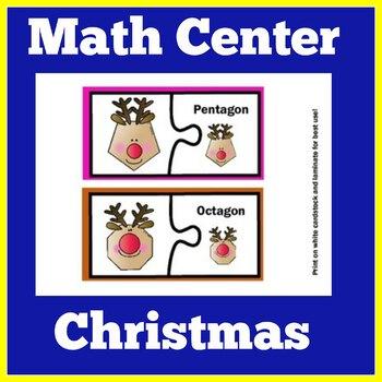 Christmas Math Center | Kindergarten Christmas Center | Ch