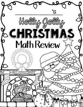 Christmas Math: Worksheets: Christmas 4th Grade: Math Review Activities: No Prep