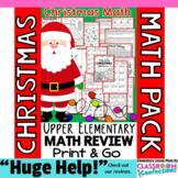 Christmas Math: Worksheets: Christmas 4th Grade: Math Revi