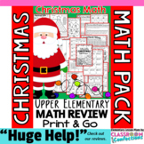 Christmas Math: Worksheets: Christmas 4th Grade: Math Revi