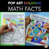 Christmas Math & Holiday Math Fact Coloring
