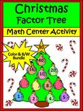 Christmas Activities: Christmas Factor Tree Christmas Math Activity Bundle