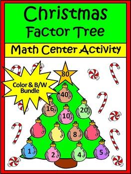 Christmas Activities: Christmas Factor Tree Christmas Math