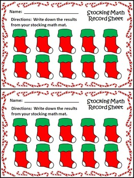 Christmas Activities: Christmas Stocking Math Puzzles Christmas Math Center