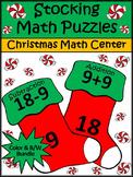 Christmas Activities: Christmas Stocking Math Puzzles Bundle - Color&BW