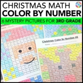 3rd Grade Christmas Activities: 3rd Grade Christmas Math (Color-by-Number)