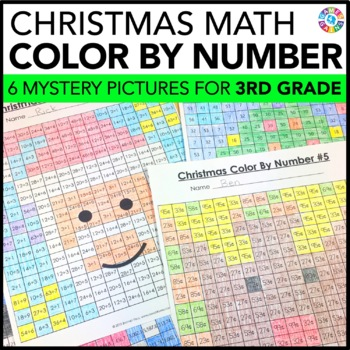 Christmas Activities: 3rd Grade Christmas Math {Christmas Color by Number}