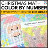 2nd Grade Christmas Activities: 2nd Grade Christmas Math (Color by Number)