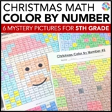 5th Grade Christmas Activities: 5th Grade Christmas Math (Color-by-Number)