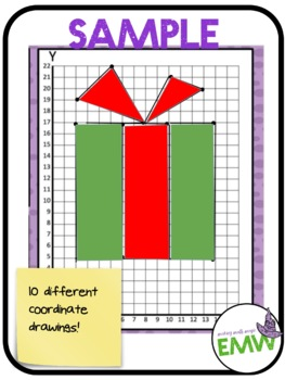 Christmas Math Coordinate Task Cards