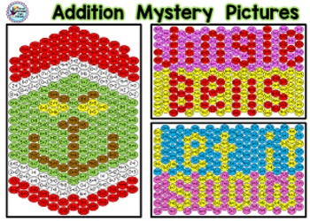 Christmas Math Grinch Addition Mystery Pictures