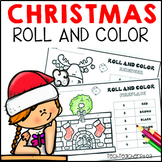 Christmas Math Roll and Color Math Activities Addition Subtraction