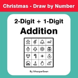 Christmas Math: 2-Digit + 1-Digit Addition - Math & Art -