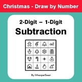 Christmas Math: 2-Digit - 1-Digit Subtraction - Math & Art