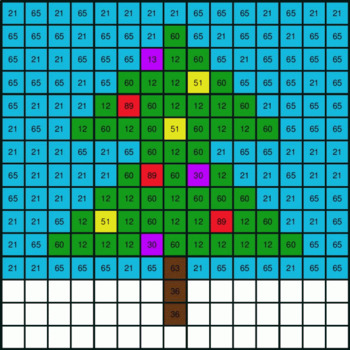 Christmas Math: 2-Digit - 1-Digit Subtraction - Mystery Picture - Google Forms