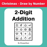 Christmas Math: 2-Digit Addition - Math & Art - Draw by Number