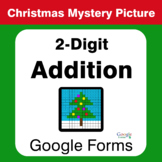 Christmas Math: 2-Digit Addition - Mystery Picture - Google Forms