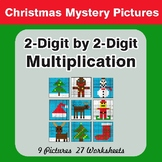 Christmas Math: 2-Digit Multiplication - Color-By-Number Math Mystery Pictures