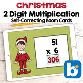 Christmas BOOM Cards - 2 Digit Multiplication Digital Task Cards